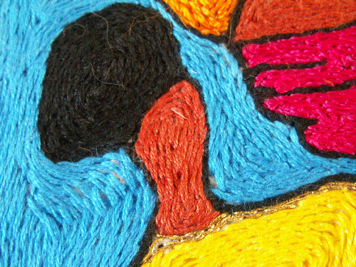 Close up of stitches